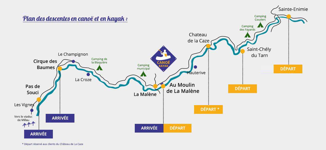 les gorges du tarn carte Canoeing in the Gorges du Tarn | La Maison du Plein Air in the